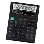 Купить Калькулятор офисный CT-612С, 32 кнопки, черный, размеры 195*145*30мм, Box