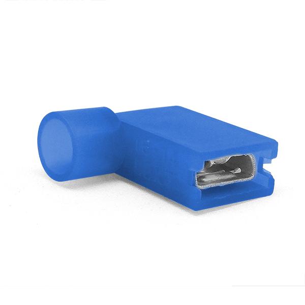 Купить Наконечник кабельный угловой ножевой (гнездо) полностью в изоляции 0.8х6.35мм, сеч. пров. 1.5-2.5мм2, 15А