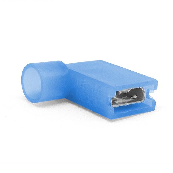Купить Наконечник кабельный угловой ножевой (гнездо) полностью в изоляции 0.8х4.75мм, сеч. пров. 1.5-2.5мм2, 15А