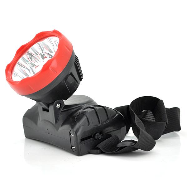 Купить Налобный Фонарик 8811, 9*LED, 1 реж., корпус- пластик, встроенный аккум, 1000mAh, черный, BOX