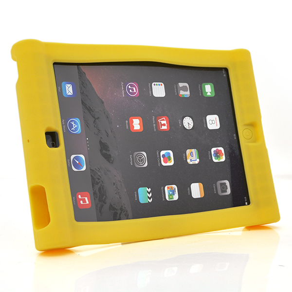 Купить Чехол силиконовый противоударный для планшета ZH-4388-2  for iPad mini1/2/3 Yellow