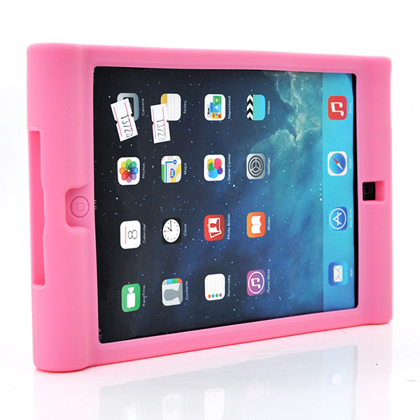 Купить Чехол силиконовый противоударный для планшета ZH-4898  for iPadair2/ipad6  Pink
