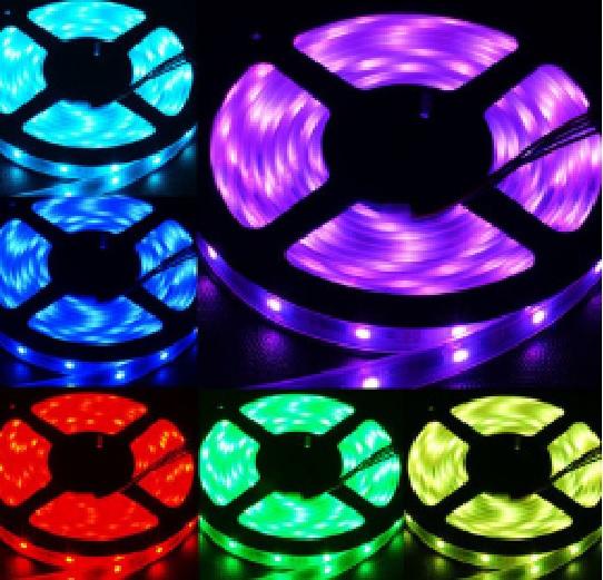 Купить Гирлянды 100LED M3 (Диод) Red/Green/Blue/Yellow, 8 режимов, 6метров, черная изоляция, BOX