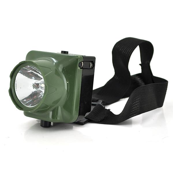 Купить Налобный Фонарик, 1*LED, 1 реж., корпус- пластик, водонепроницаемый, 3*AAA, черный, BOX