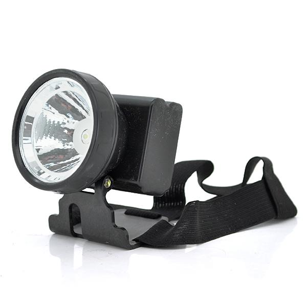 Купить Налобный Фонарик, 1*LED, 1 реж., корпус- пластик, водонепроницаемый, встроенная батарея, индикатор, черный, BOX
