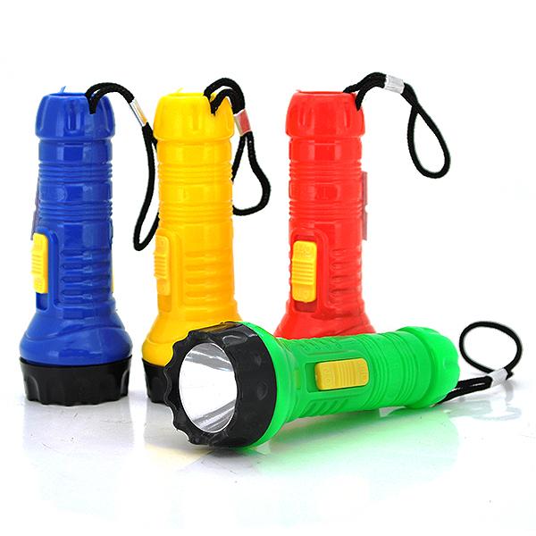 Купить Карманный фонарик TY-572 , 1LED, 1 режим, корпус- пластик, питание литиевая батарейка, микс-цвет, ОЕМ