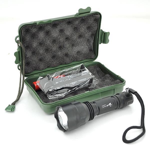 Купить Фонарик ручной UltraFire С8, 3 реж., Zoom, корпус- алюминий, ударостойкий, 18650 ак-тор, ЗУ, BOX