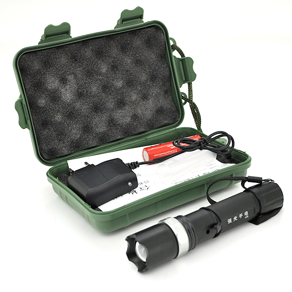 Купить Фонарик ручной H-86, 3 реж., Zoom, корпус- алюминий, ударостойкий, 18650 ак-тор, СЗУ, BOX