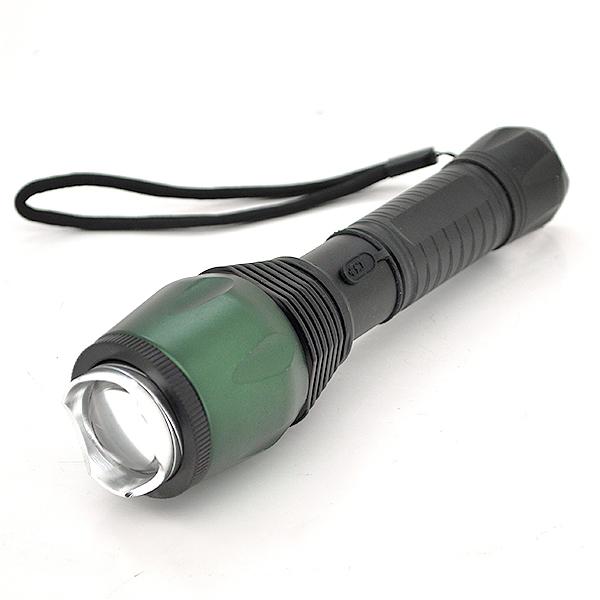 Купить Фонарик ручной 622-1, 1 реж., Zoom, корпус- алюминий, ударостойкий, 2АА, Green, OEM