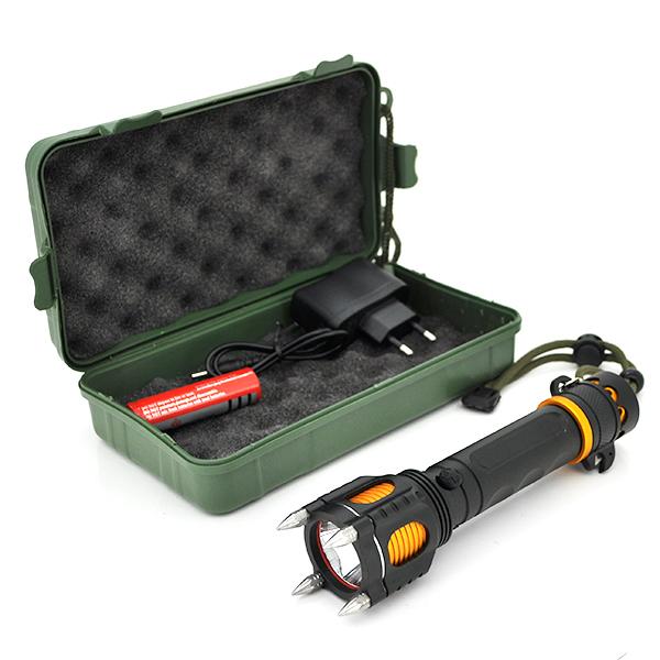 Купить Фонарик ручной XINSITE HG-007, LED 3 реж., Zoom, корпус- алюминий, ударостойкий, 18650 ак-тор, СЗУ, BOX