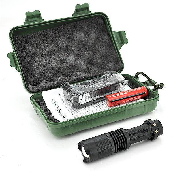 Купить Фонарик ручной XINSITE SK-68, 3 реж., Zoom, корпус- алюминий, ударостойкий, 18650 ак-тор, ЗУ для ак-ра, BOX