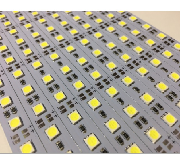 Купить Лента светодиодная 5730/5630 аллюминиевая, на жесткой основе, 12V,72LED, Purple, цена за метр