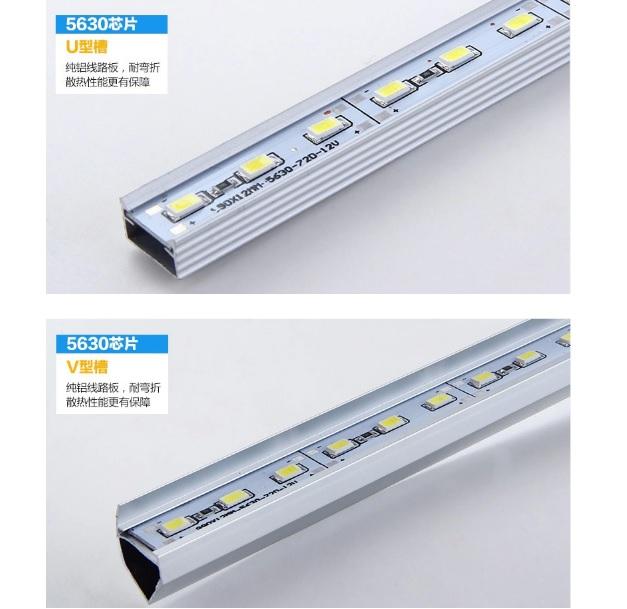 Купить Лента светодиодная 5630 аллюминиевая, на жесткой основе, 12V, 3000K, 72LED, WhiteHot, цена за метр