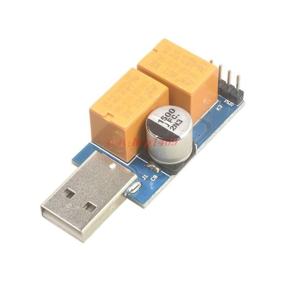Купить USB WatchDog сторожевой таймер два реле на перезагрузку / включение + кабель красно-синий
