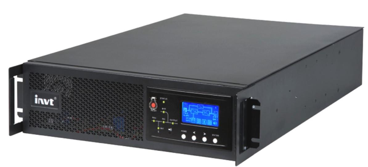 Купить ИБП On-Line RACK HR1103L 3KL (3 kVA \/ 2,7 kW, зарядное у-во 96В \/ 8A, 6 розеток C13 + 1 розетка C19)