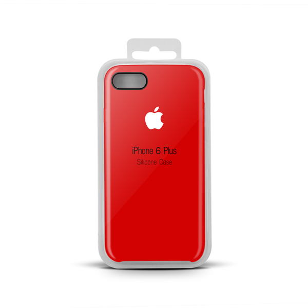 Купить Apple Silicone Case for iPhone X copy (31) red (white apple)