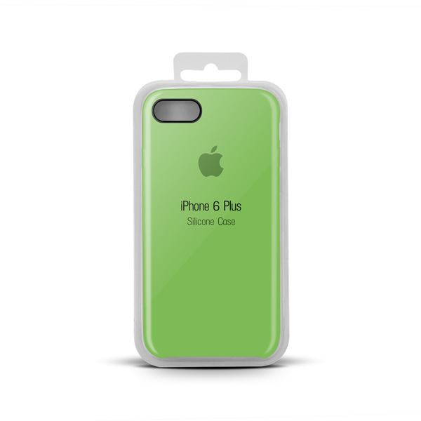 Купить Apple Silicone Case for iPhone X copy (32) lime green