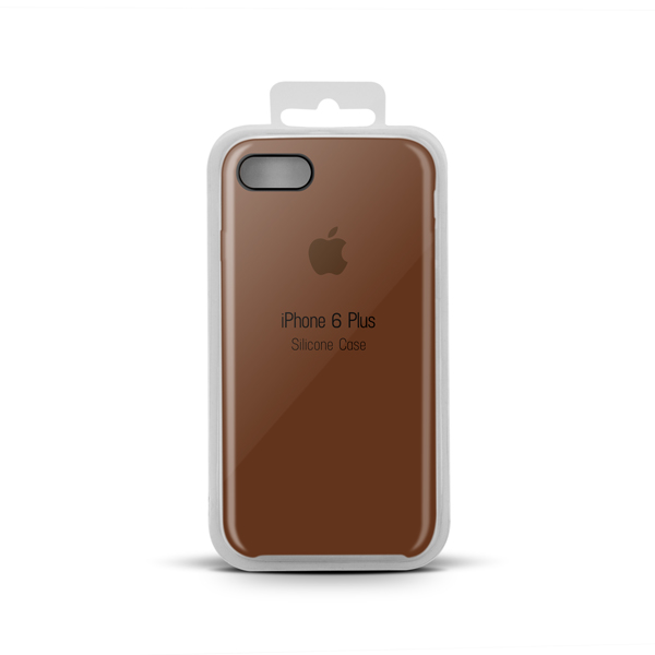 Купить Apple Silicone Case for iPhone X copy (33) brown