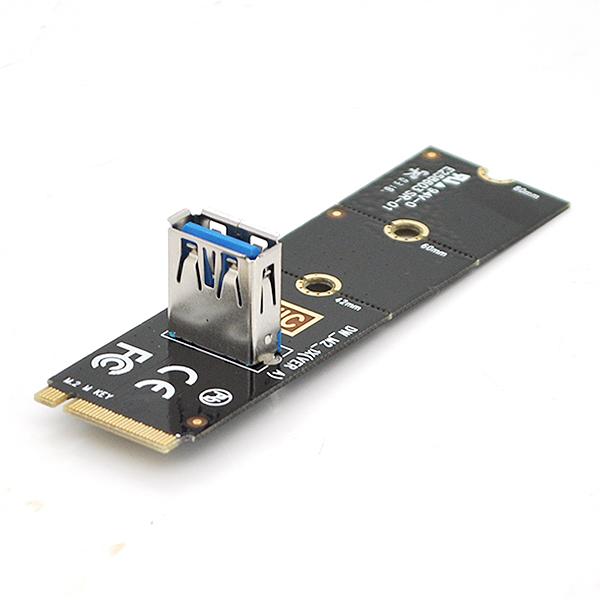 Купить Адаптер M2-PCI-e x16, USB, черный, Пакет