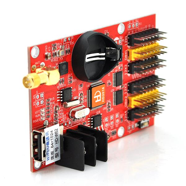 Купить Плата управления для бегущей строки HD-W62 + Wi-fi кабель