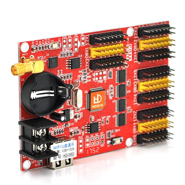 Купить Плата управления для бегущей строки HD-W63 + Wi-fi кабель