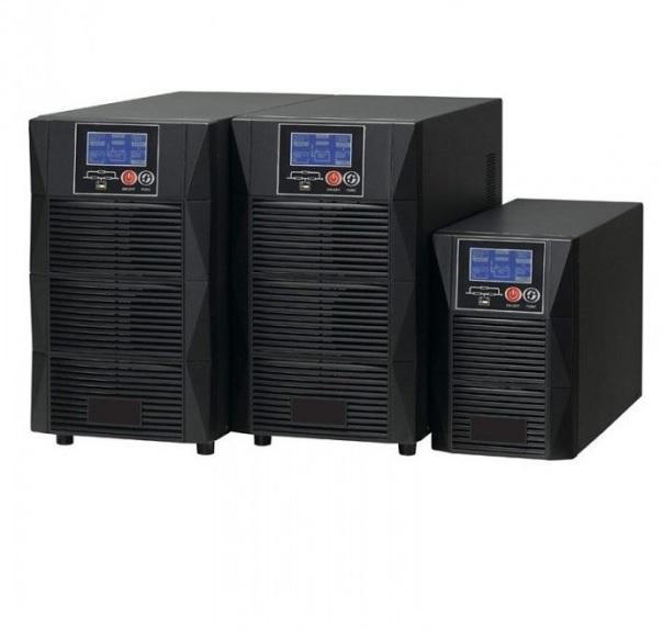 Купить ИБП On-Line TOWER HT1102L 2KL (2 kVA \/ 1,8 kW, зарядное у-во 72В \/ 8A, 3 розетки Schuko)