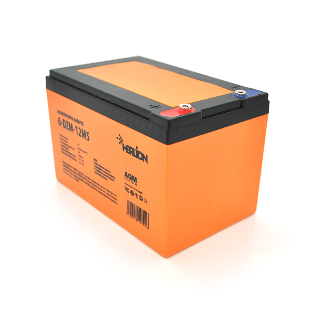 Купить Тяговая аккумуляторная батарея AGM MERLION 6-DZM-12, 12V 12Ah М5 (151х98х101 мм) Q4