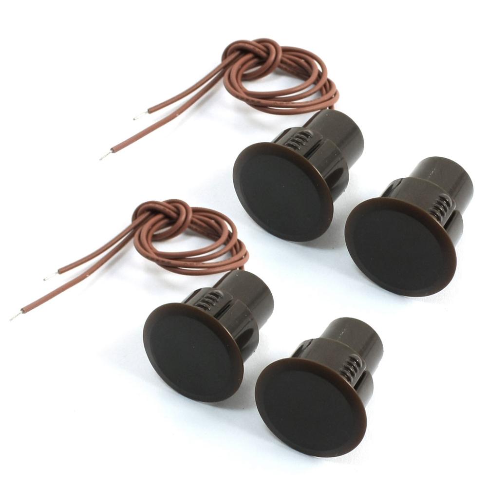 Купить Врезной магнитный переключатель RС-36, 10*18 мм, коричневый, 10 штук в упаковке, цена за упаковку