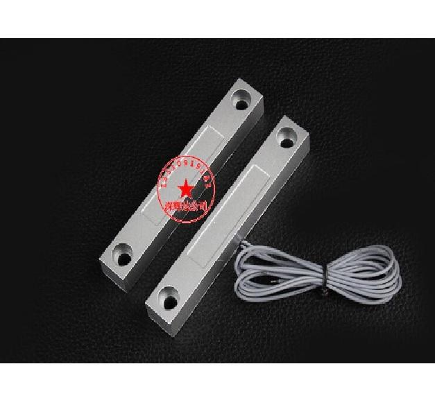 Купить Датчик магнитоконтактный с проводом 30 см MC-58, 106*16*16 мм, аллюминиевый сплав, серый, под саморез, 1 штука в упаковке, цена за упаковку