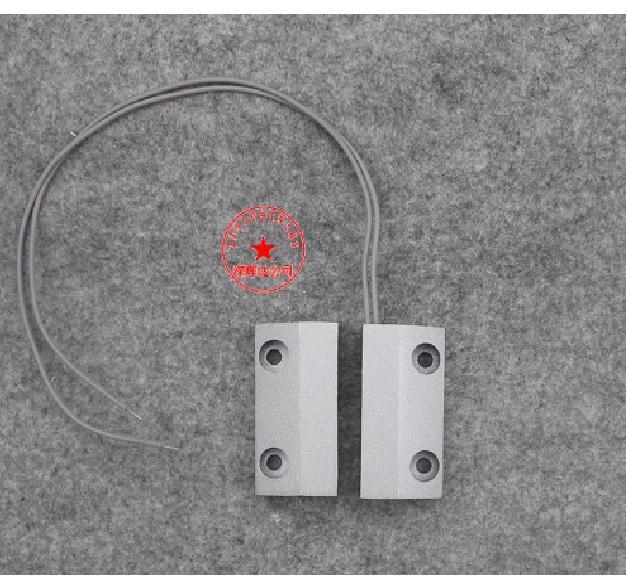 Купить Датчик магнитоконтактный с проводом 30 см MC-56, 49*25*15 мм, аллюминиевый сплав, серый, под саморез, 5 штук в упаковке, цена за упаковку