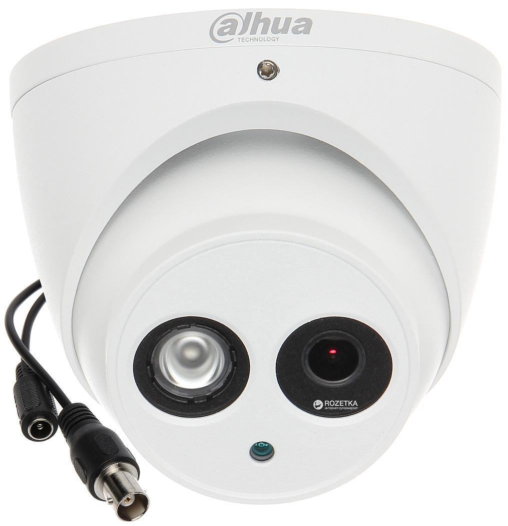 Купить 4 МП купольная  уличн/внутр камера  со звуком DH-HAC-HDW1400EMP-A (2.8 мм)