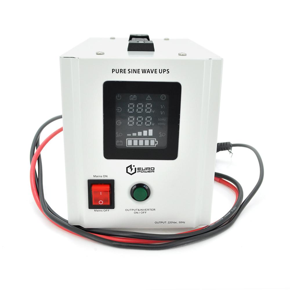 Купить ИБП с правильной синусоидой Europower PSW-EPW800TW12 (480 Вт) 5 \/ 10А, под внешнюю АКБ 12В , Q4 (305*198*235) 5,08 кг (235*145*170(180))