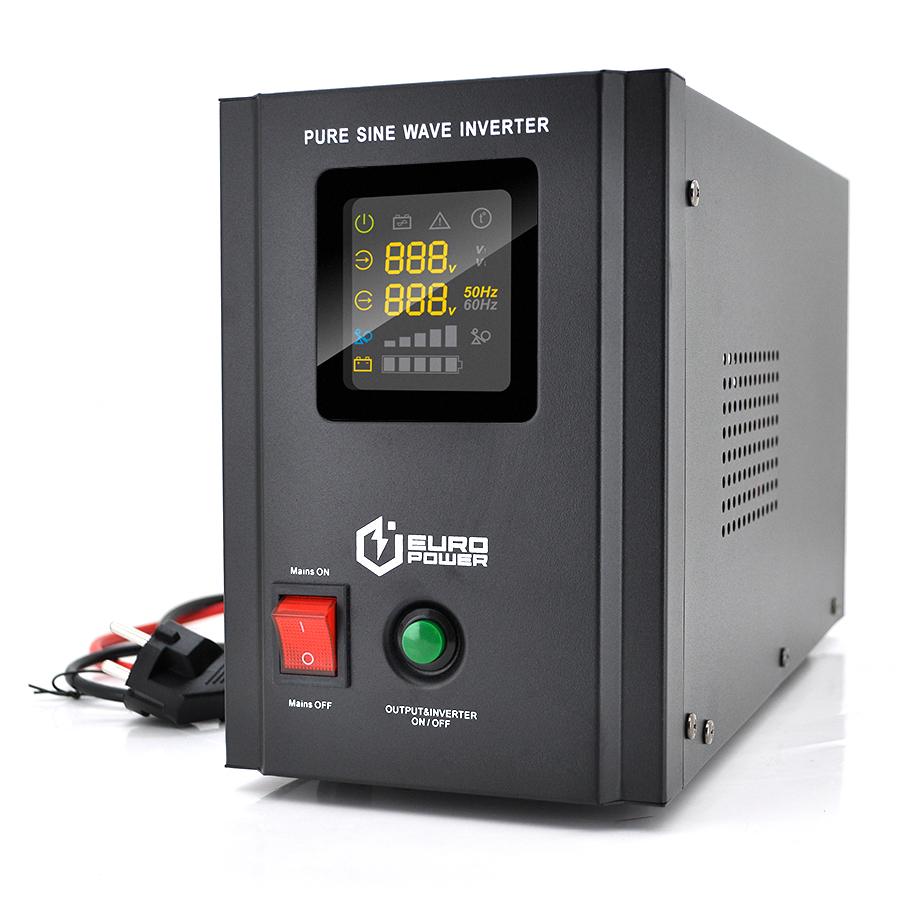 Купить ИБП с правильной синусоидой Europower PSW-EPB800TW12 (480 Вт) 5 \/ 10А, под внешнюю АКБ 12В , Q2 (415*208*283) 5,79 кг (346*145*210(220))