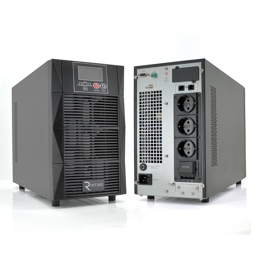 Купить ИБП On-Line Ritar HT1101S 1KVA \/ 0.9kW 36В, Встроенная батарея 12V 7 Ah х 3 шт (448*240*320) 12,9 кг (345*144*231)