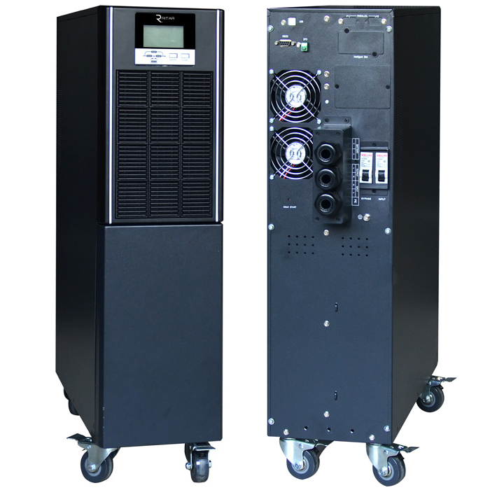 Купить ИБП On-Line Ritar HT1106XS 6KVA \/ 6kW 192В, Встроенная батарея 12V 7 Ah х 16 шт (665*330*890) 70,5 кг (445*190*700)