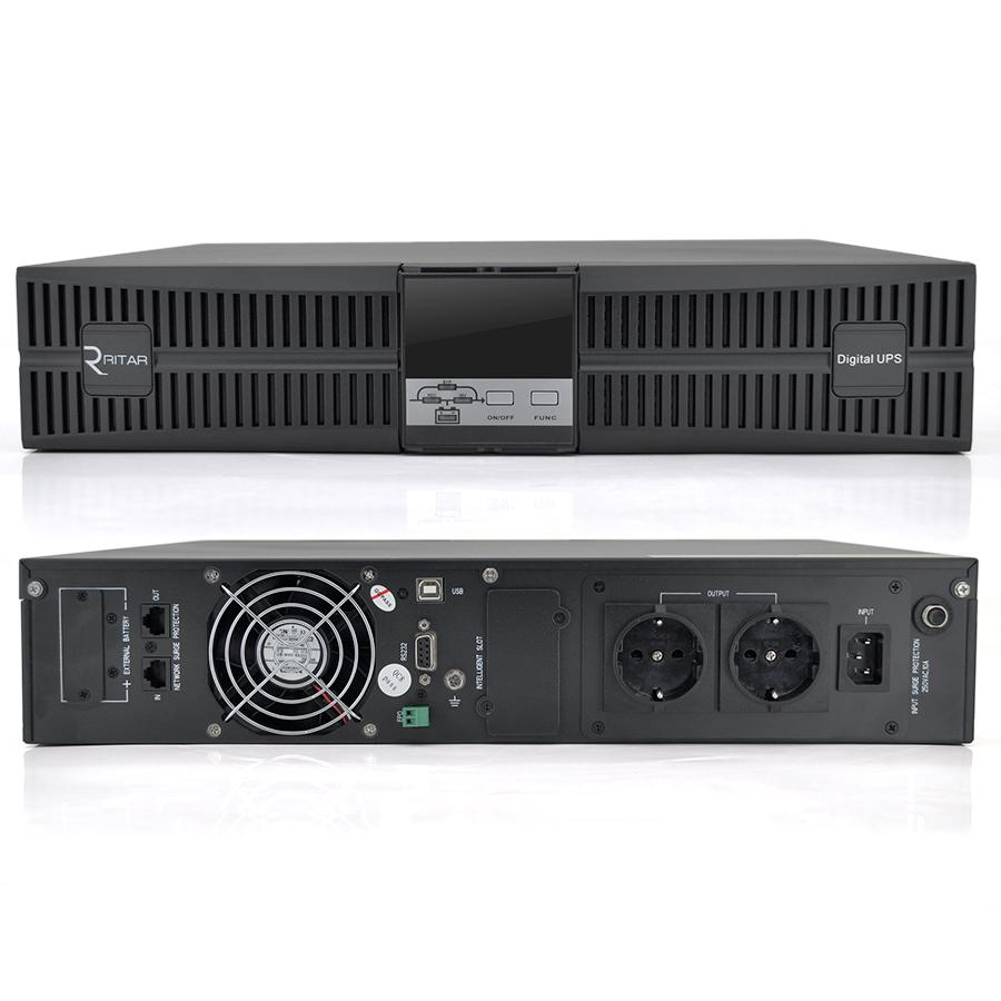 Купить ИБП On-Line Ritar HR1101S 1KVA \/ 0.9kW REC 36В, Встроенная батарея 12V 7 Ah х 3 шт (575*566*257) 16,74 кг ( 415*438*87)
