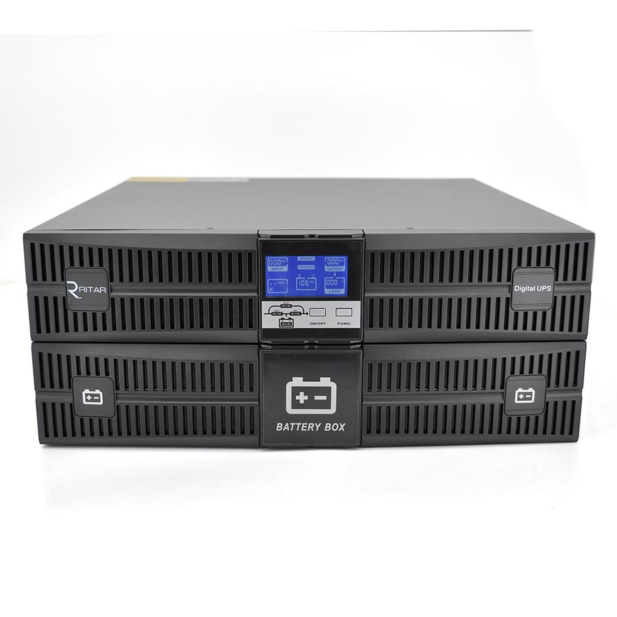 Купить ИБП On-Line Ritar HR1106XS 6KVA \/ 6kW REC 192В, Встроенная батарея 12V 7 Ah х 16 шт (820*600*420) 70,2 кг (650*435 (488)*175)