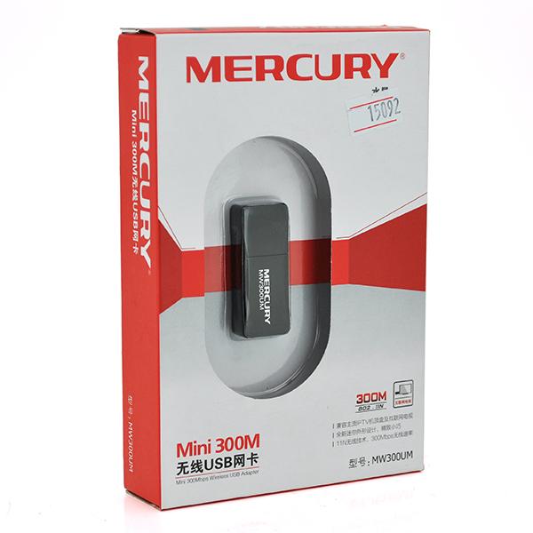 Купить Беспроводной сетевой адаптер с антенной Wi-Fi-USB MERCURY mini MW300UM, 802.11bgn, 150MB, 2.4 GHz, WIN7/XP/Vista/2K/MAC/LINUX, BOX Q300
