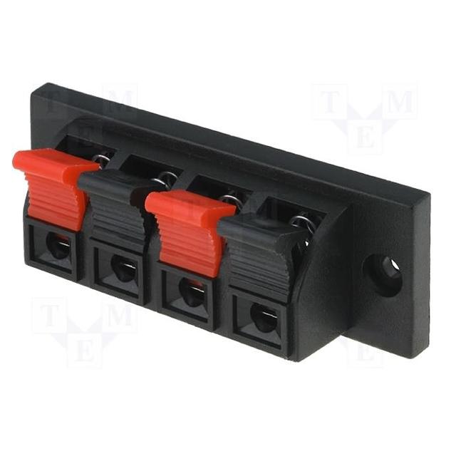 Купить Зажим 4-pin JR6255 для динамика размер панели 70 x 24 мм