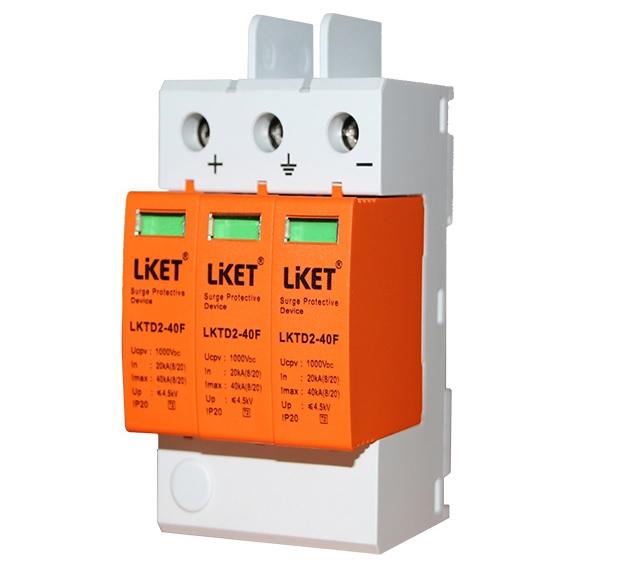 Купить Фотогальваническая защита от перенапряжения постоянного тока LKTD2 - 40F, 40kA с телеуправлением