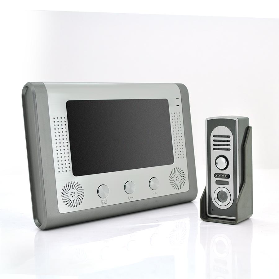 """Купить Комплект видеодомофона MOUNTAINONE SY801M11 ( 7"""" цветной монитор,цвет серый \/ цветная вызывная панель,цвет серый \/ блок питания 15В \/ 1,2А)"""