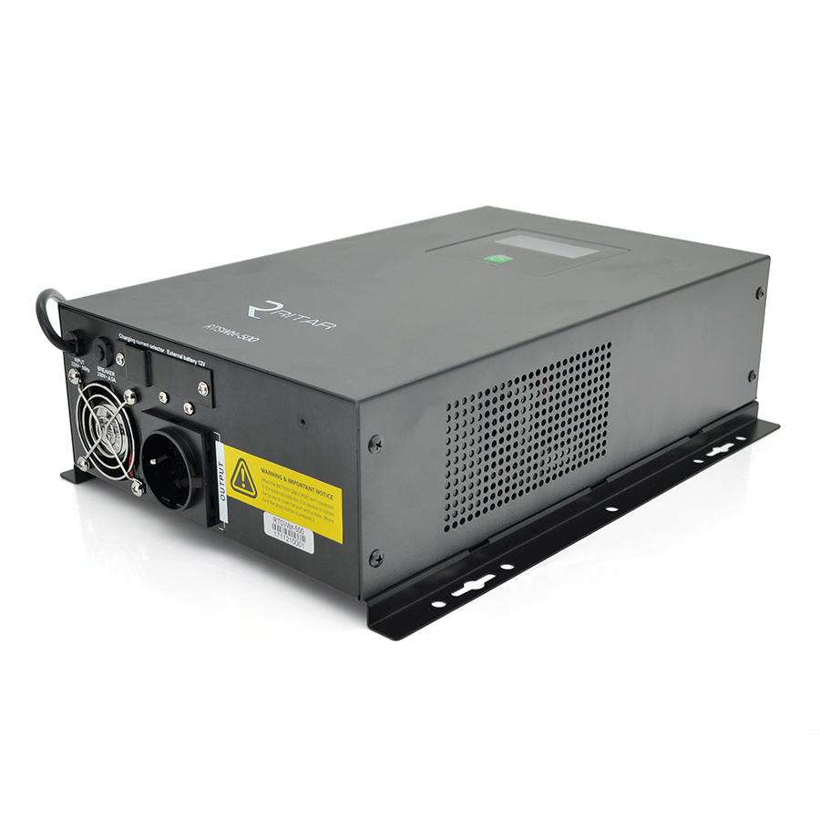 Купить ИБП с правильной синусоидой RITAR RTSWbt-500 (300Вт), под внешний АКБ , c разъемом Anderson, настенный, Q2 (435*330*185) 11,8 кг (355*230(270)*110)