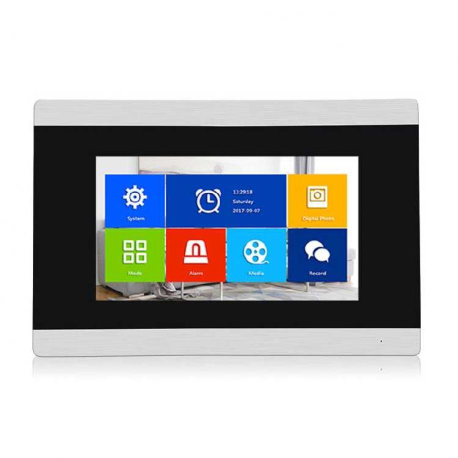 Купить Видеодомофон Qualvision QV-IDS4749 AHD 7-дюймовый сенсорный дисплей, цвет серый ( Поддерка карты памяти MicroSD до 32Гб)