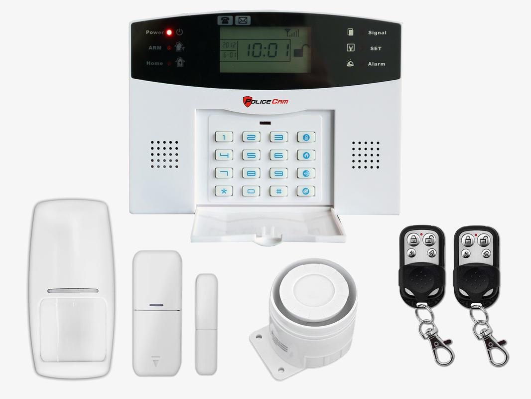 Купить Комплект беспроводной сигнализации GSM 30A Prof (централь, RC02-2 шт, PR03-1 шт., DS03-1 шт, сирена красн.)