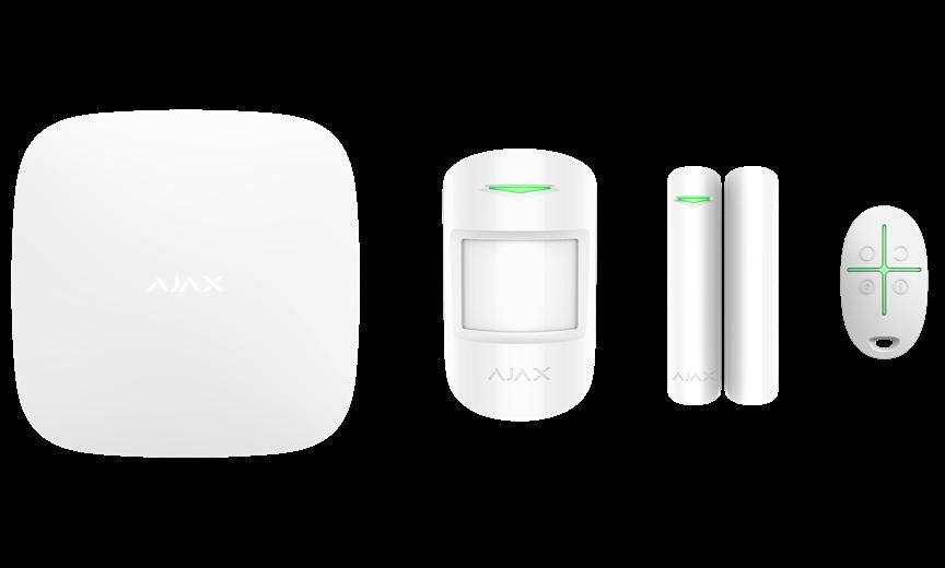 Купить Расширенный комплект беспроводной сигнализации Ajax StarterKit Plus white ( Hub Plus \/ MotionProtect \/ DoorProtect \/ SpaceControl )