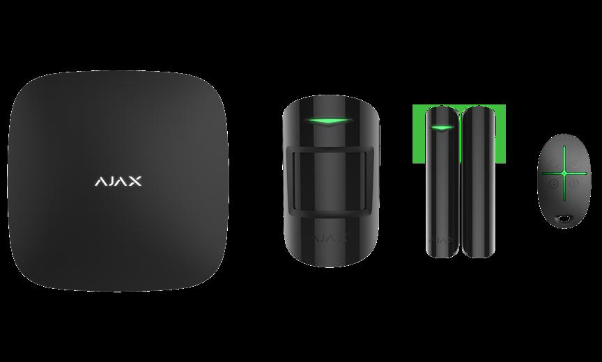 Купить Расширенный комплект беспроводной сигнализации Ajax StarterKit Plus black ( Hub Plus \/ MotionProtect \/ DoorProtect \/ SpaceControl )