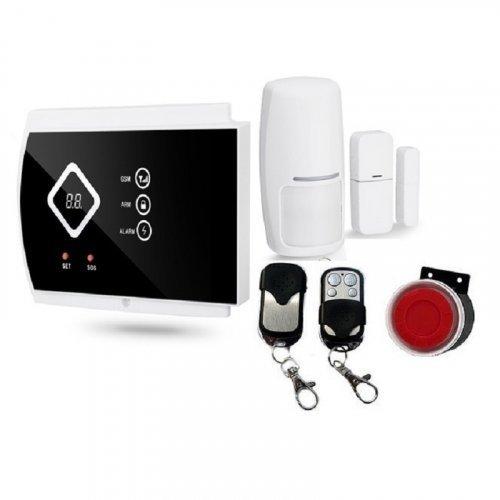 Купить Комплект беспроводной сигнализации GSM G10A Prof (централь, RC02-2 шт, PR03-1 шт., DS03-1 шт, сирена белая.)