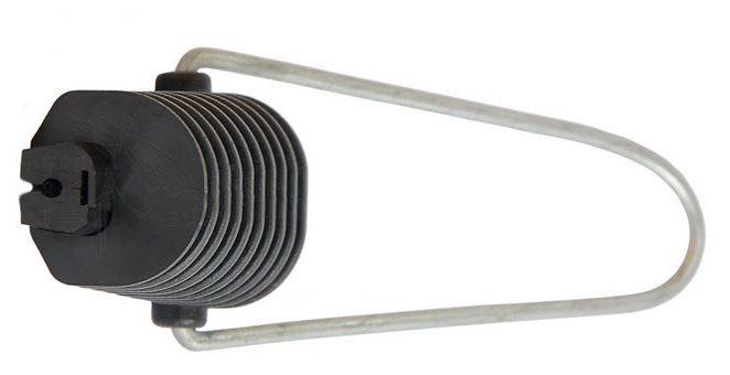 Купить Натяжной зажим Н28 для самонесущих оптических кабелей типа «8» с вынесенным силовым элементом или круглого кабеля диаметром от 2 до 5,5 мм, Q100