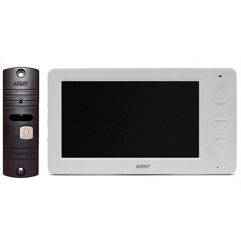 Купить Комплект видеодомофона Arny AVD-7005 (белый домофон \/ панель медная)