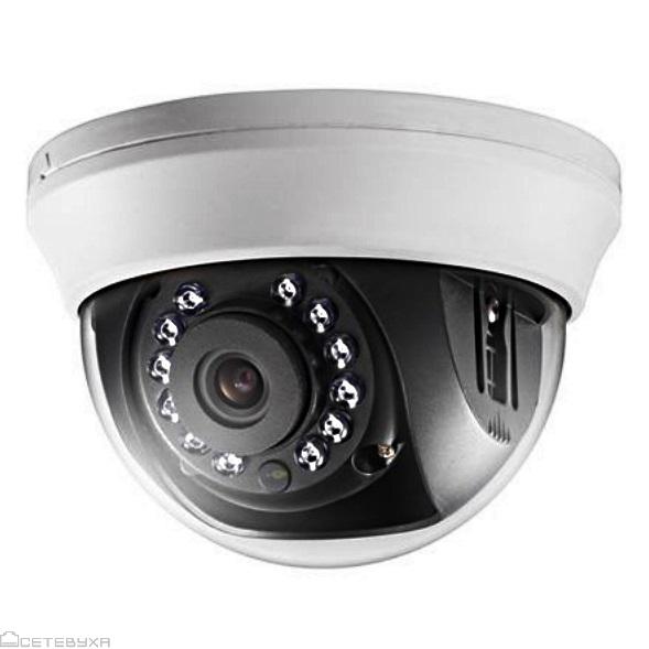 Купить 2MP Камера купольная Hikvision DS-2CE56D0T-IRMM (2.8)
